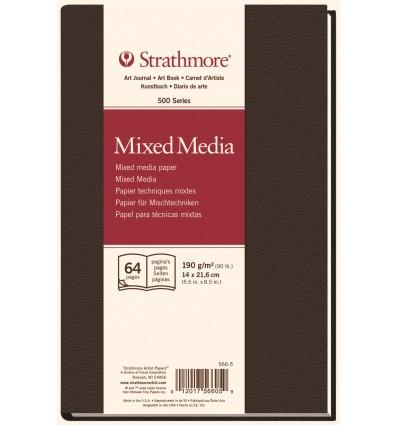 Альбом для зарисовок Strathmore Mixed Media 500 Series (хлопок) , 14х21,6см, 190г., 32 листа, портрет, тв. обложка