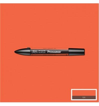 Маркер Winsor&Newton Promarker, двусторонних 2 пера (тонкое и долото), Цвет: R866 Оранжевый