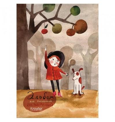 Альбом для акварели Kroyter Осень, А4, 180гр., 30 листов, склейка