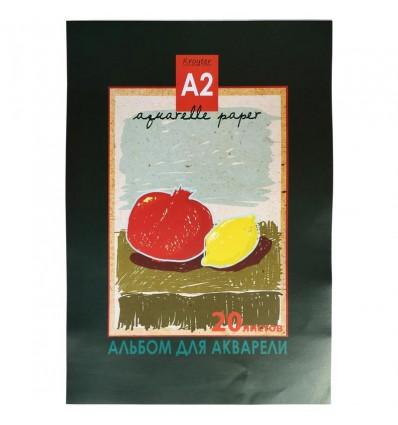 Альбом для акварели Kroyter Натюрморт 05183, А2, 180гр., 20 листов, склейка