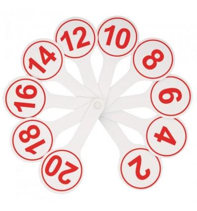 Касса-веер СТАММ цифры ( от 1 до 20 )