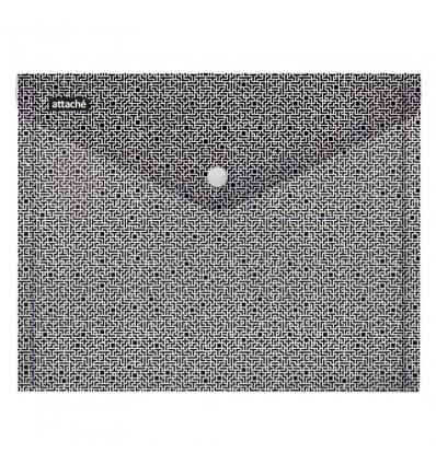 Папка-конверт Attache Confidence на кнопке А4, 0,18мм