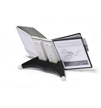 Дисплейная настольная система DURABLE SHERPA 5519, 20 панелей черные и серые