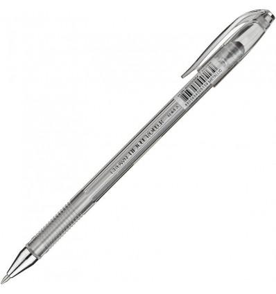 Ручка гелевая Crown, 0.7мм, серебристая