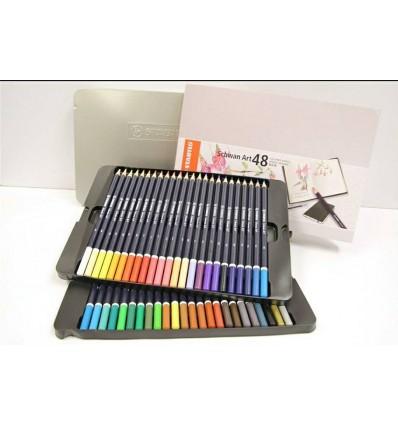 Набор цветных карандашей STABILO SCHWAN ART, 48 цветов в металлической коробке