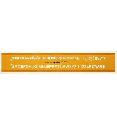 Буквенный трафарет Н-профиля Rotring, высота надписи 4.0мм, пластик