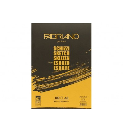 Альбом для зарисовок Fabriano Schizzi A3 (29,7x42см), 90гр., 100л., бумага мелкозернистая, склейка