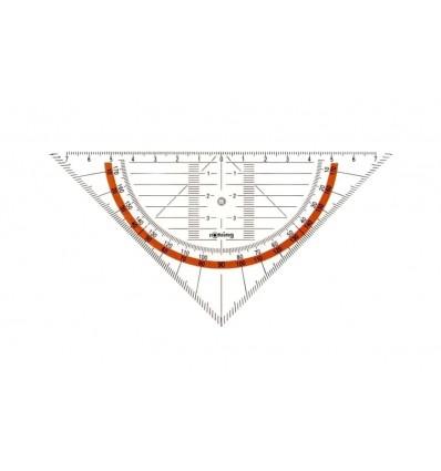 Угольник-транспортир ROTRING CENTRO для геометрических работ, 16см