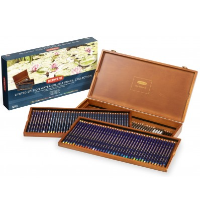 Набор цветных карандашей Derwent Limited Edition Water-Soluble 120 штук, в деревянной коробке