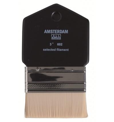 Кисть синтетика Royal Talens Amsterdam 602 № 3 для масла и акрила, широкая плоская