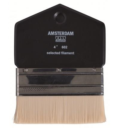 Кисть синтетика Royal Talens Amsterdam 602 № 4 для масла и акрила, широкая плоская