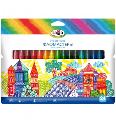 Фломастеры Гамма Классические, 24 цвета