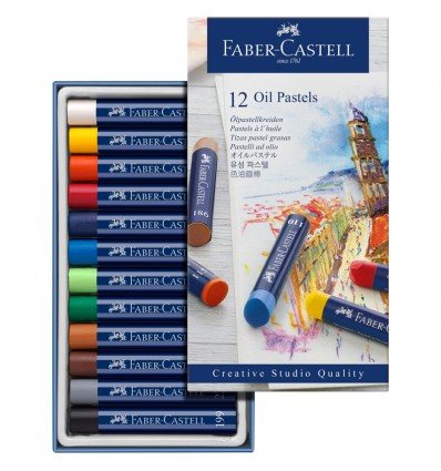 Масляная пастель FABER-CASTELL STUDIO QUALITY Goldfaber, 12 цветов