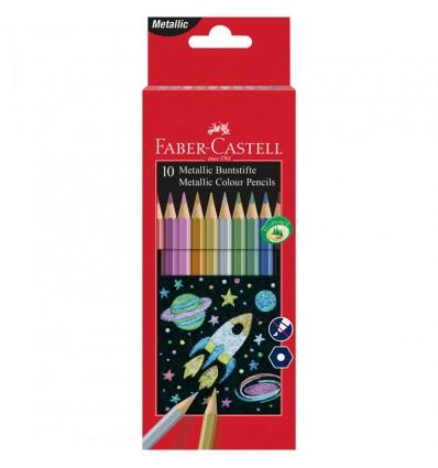 Набор цветных карандашей FABER-CASTELL Metallic, 10 металлизированных цветов