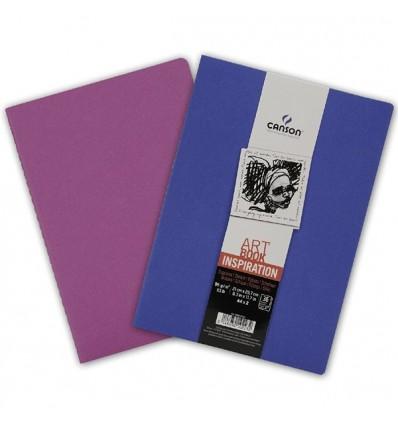 Скетчбук CANSON Inspiration А4 21*29.7см, 96гр. 36л., мягкая обложка Ультрамарин/Фиолетовый, 2шт