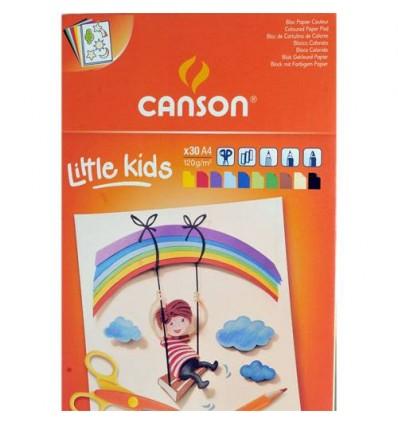 Альбом CANSON Kids А4 (24*32см), 120гр., цветная бумага, 30л., склейка