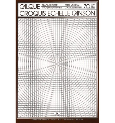Калька CANSON А4 (21*29.7см), 75г/кв.м, склейка на подложке