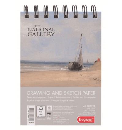 Альбом для зарисовок Bruynzeel National Gallery A6, 160гр., 40л., Спираль
