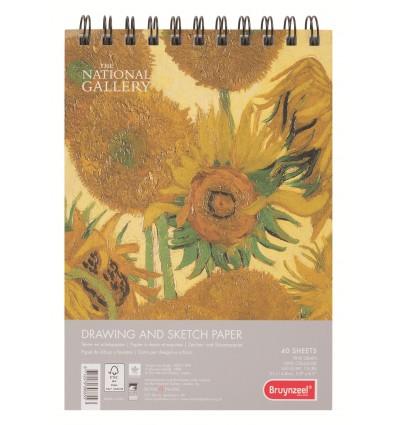 Альбом для зарисовок Bruynzeel National Gallery A5, 160гр., 40л., Спираль