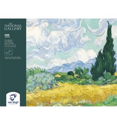 Альбом для зарисовок ROYAL TALENS Van Gogh National Gallery, 24*32см., 300гр., 12л., склейка по 4-м сторонам