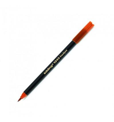 Фломастер с гибким наконечником в виде кисти Edding 1340 brushpen, 0,5-2,5мм , Мандариновый