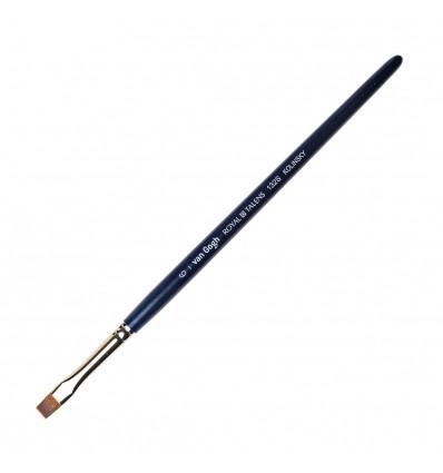 Кисть колонок ROYAL TALENS Van Gogh 132S, № 6, плоская укороченная, короткая ручка