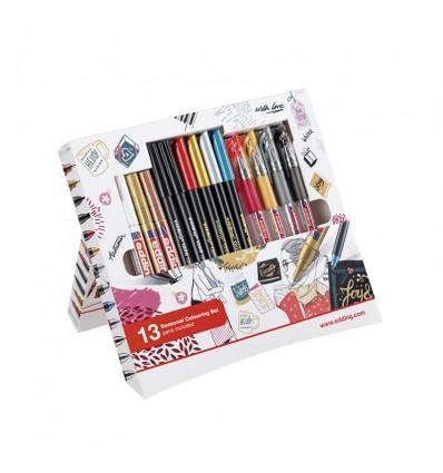 Набор EDDING Colouring Promotion Set, 13 предметов (маркеров, фломастеров и ручек)
