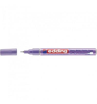 Маркер лаковый EDDING E-780 водостойкий 0,8мм круглый наконечник, Фиолетовый металлик
