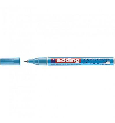 Маркер лаковый EDDING E-780 водостойкий 0,8мм круглый наконечник, Голубой металлик