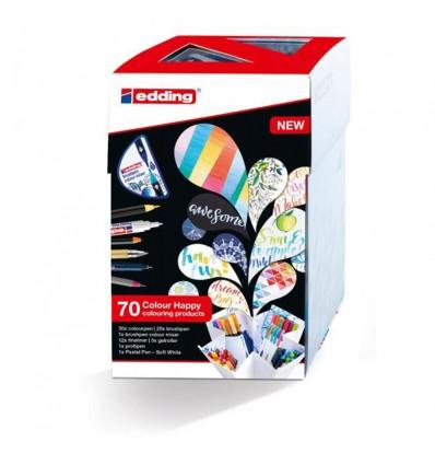 Набор фломастеров EDDING Сolor Happy Set, 69 предметов + смешиватель цветов