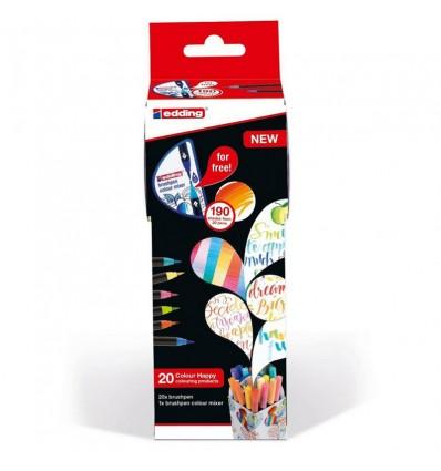 Набор фломастеров EDDING Сolor Happy Set, 20 предметов + смешиватель цветов