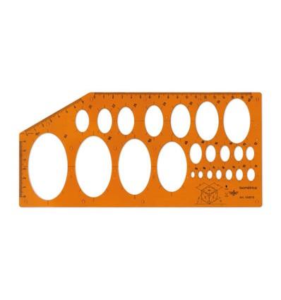 Набор лекал Rotring CENTRO, 3 предмета, пластик