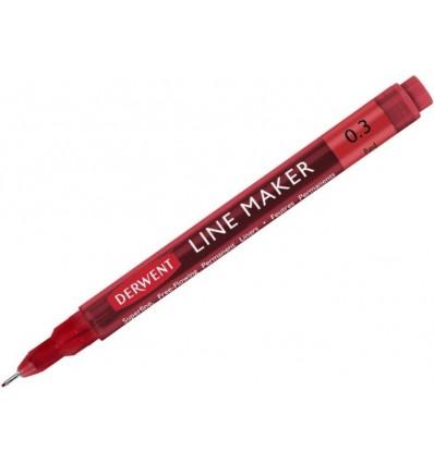 Ручка капиллярная DERWENT Line Maker 0.3мм, ЗЕЛЕНАЯ