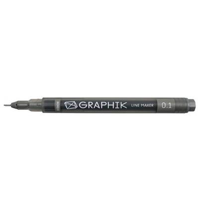 Ручка капиллярная DERWENT Line Maker 0.1мм, ГРАФИТ