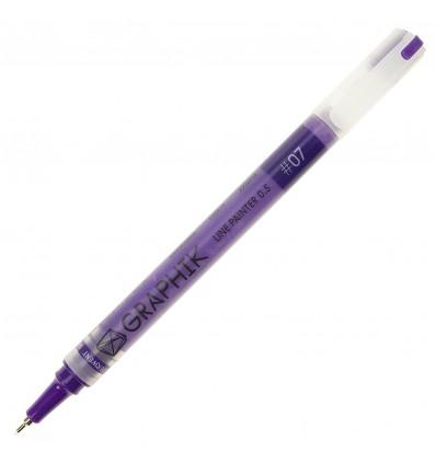 Ручка капиллярная DERWENT GRAPHIK LINE PAINTER 0.5мм, Цвет: №07 темно-синий