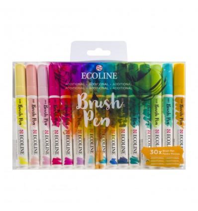 Набор акварельных маркеров ROYAL TALENS Ecoline Brush Pen Additional, 30 дополнительных цветов