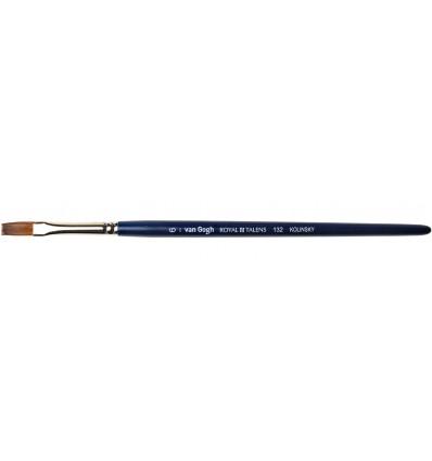 Кисть колонок ROYAL TALENS Van Gogh 132, № 2, плоская, короткая ручка