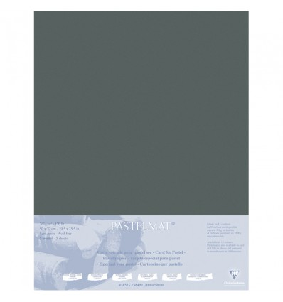 Бумага для пастели Clairefontaine Pastelmat, 500*700мм, 360гр., 5л., бархат, Антрацит