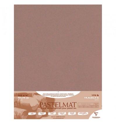 Бумага для пастели Clairefontaine Pastelmat, 500*700мм, 360гр., 5л., бархат, Коричневый