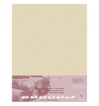 Бумага для пастели Clairefontaine Pastelmat, 500*700мм, 360гр., 5л., бархат, Песочный