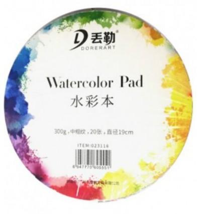 Альбом для акварели Potentate Watercolor Pad, 300гр., Крупное зерно Торшон, 190х190мм, 20 листов, склейка круглая