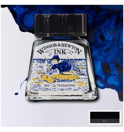 Тушь художественная Winsor&Newton Drawing Ink для рисования, 14мл, Цвет: Ультрамарин