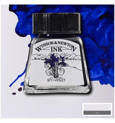 Тушь художественная Winsor&Newton Drawing Ink для рисования с пипеткой, 14мл, Цвет: Фиолетовый