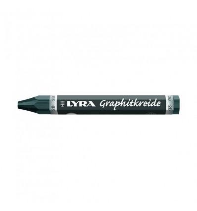 Графитный водостойкий мелок Lyra Graphite Crayons, 2B, 1шт