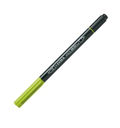 Фломастер цветной акварельный LYRA AQUA BRUSH duo, двухсторонний (кисть и классик), Яблочно-зеленый
