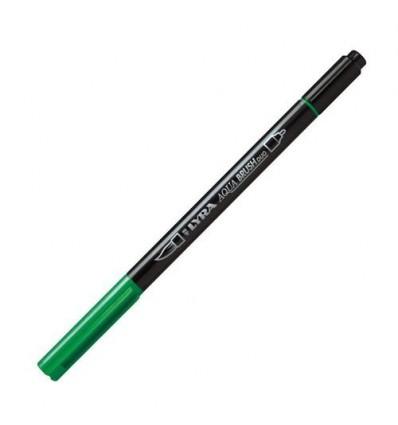 Фломастер цветной акварельный LYRA AQUA BRUSH duo, двухсторонний (кисть и классик), Зеленая трава
