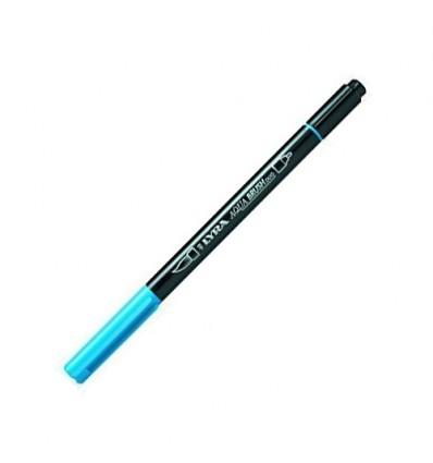 Фломастер цветной акварельный LYRA AQUA BRUSH duo, двухсторонний (кисть и классик), Светло-синий