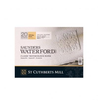 Альбом для акварели Saunders Waterford Rough White (Торшон - крупное зерно ) хлопок, 31х23см, 300г/м2, натурал. белая, 20 листов