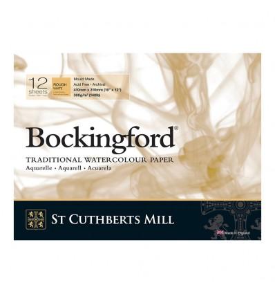 Альбом для акварели Saunders Bockingford Rough White (Торшон - крупное зерно), 26х18см, 300г/м2, 12 листов