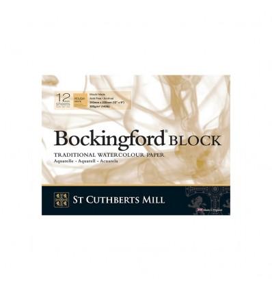 Альбом для акварели Saunders Bockingford Rough White (Торшон - крупное зерно), 31х23см, 300г/м2, 12 листов
